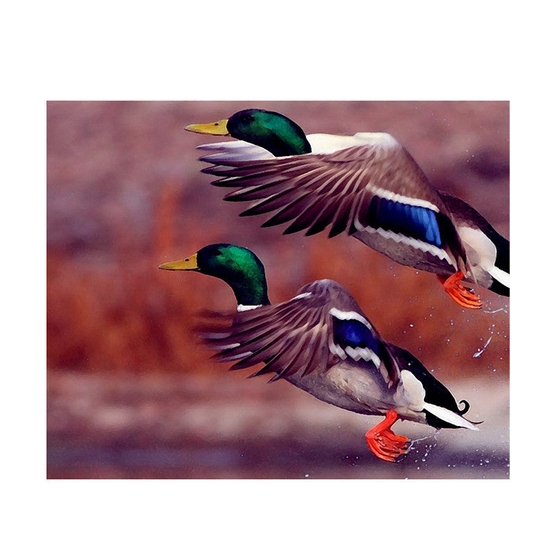 Leaf Designs Blue Green Flying Bird Poster