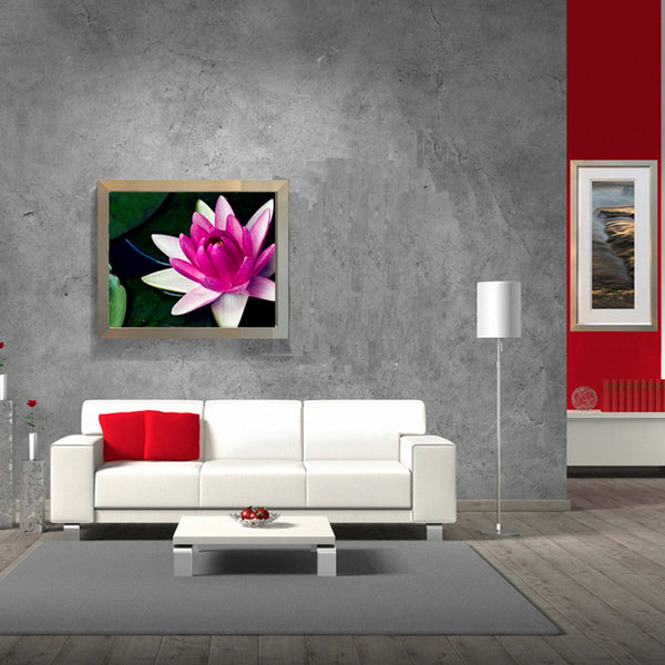 Leaf Designs White & Pink Shaded Lotus Poster