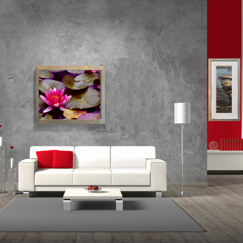 Leaf Designs Pink & Purple Lotus Poster