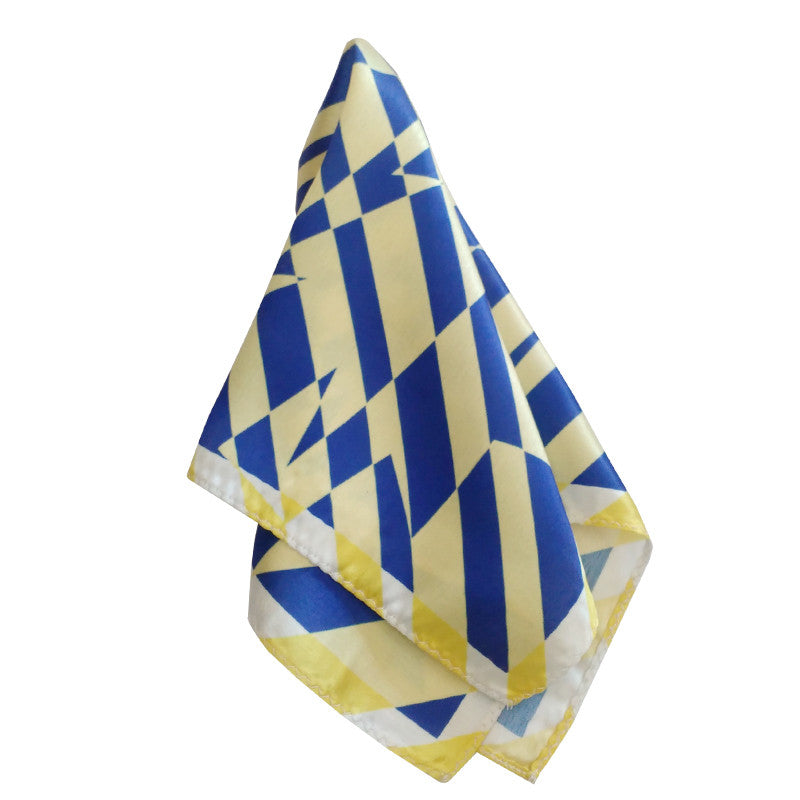 Leaf Designs Ink Blue Geometric Pocket Square