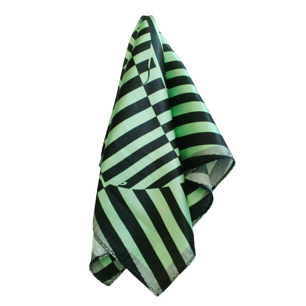 Leaf Designs Sap Green Geometric Pocket Square
