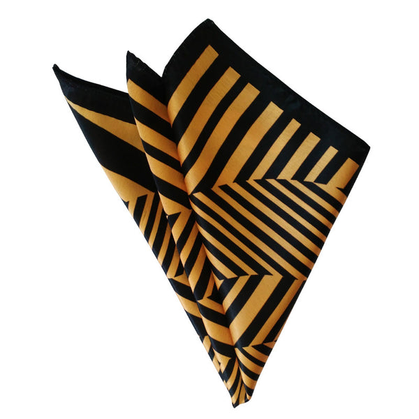 Leaf Designs Orange Geometric Pocket Square