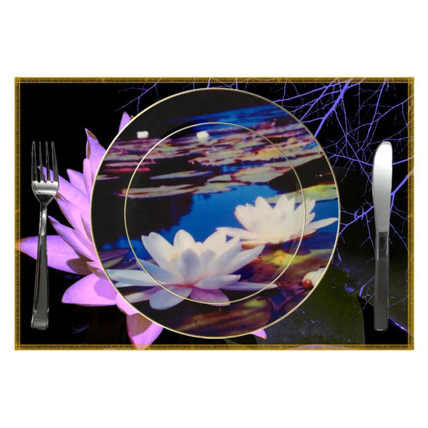 Leaf Designs White Lotus Ceramic Quarter Plate