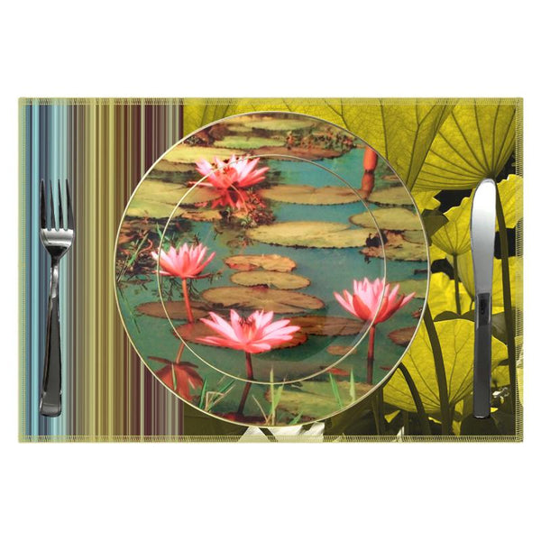 Leaf Designs Pink Lotus (A) Ceramic Quarter Plate