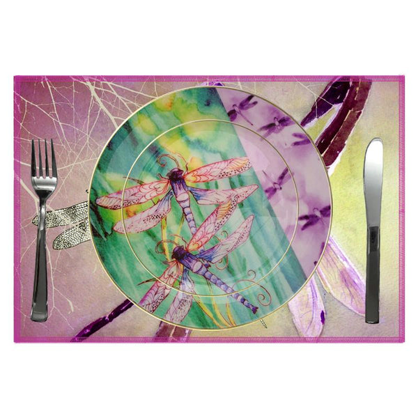 Leaf Designs Violet Dragonfly Quarter Plate
