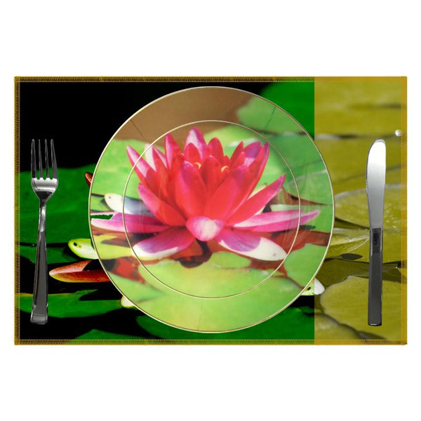 Leaf Designs Bright Green Lotus Quarter Plate