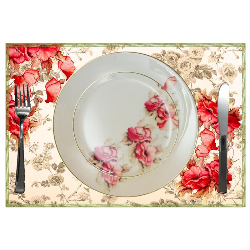 Leaf Designs Shaded Peach Floral Quarter Plate