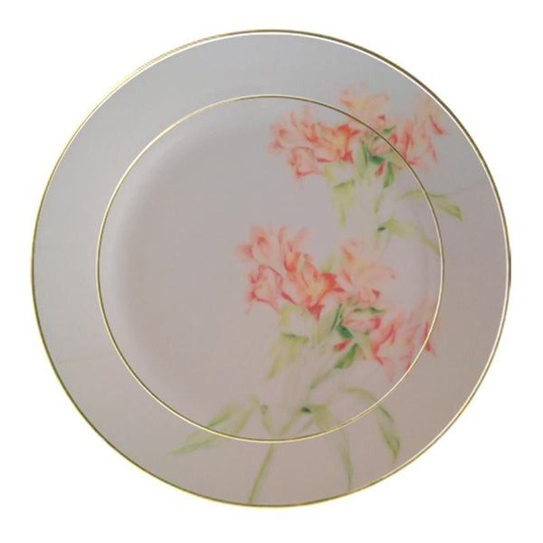 Leaf Designs Shaded Beige Floral Quarter Plate