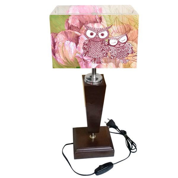 Leaf Design Owl Table Lamp