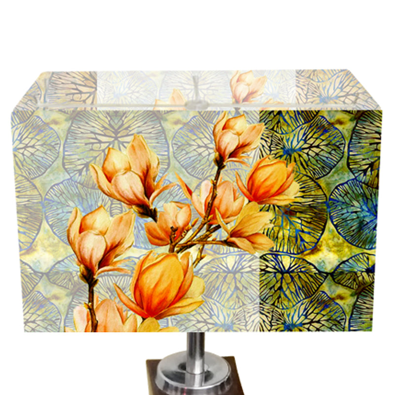 Leaf Design Yellow Floral Table Lamp