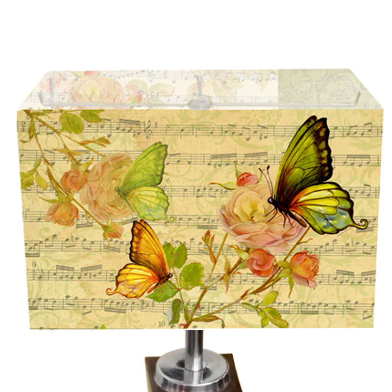 Leaf Design Light Green Butterfly Table Lamp