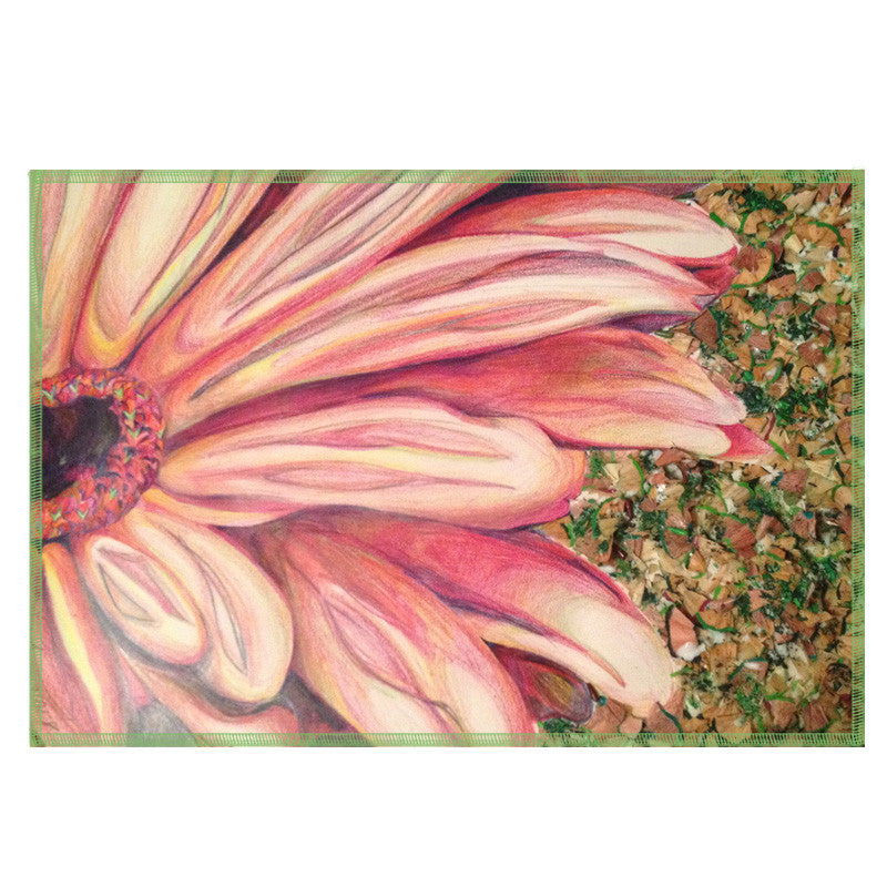 Leaf Designs Pink Floral Fabric Table Mats - Set Of 6