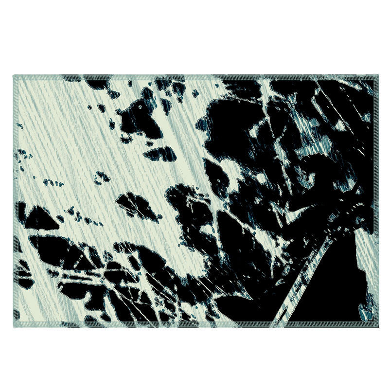 Leaf Designs Black & Green Abstract Fabric Table Mats - Set Of 6
