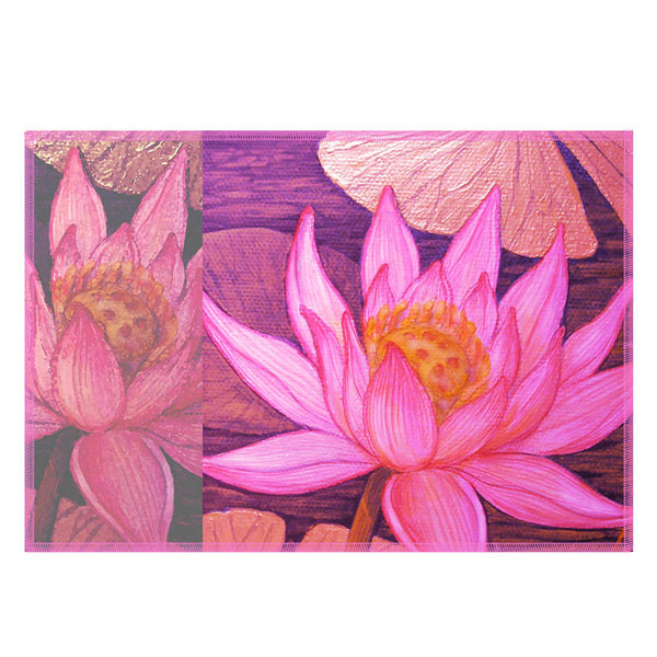 Leaf Designs Multicoloured Lotus Fabric Table Mats - Set Of 6