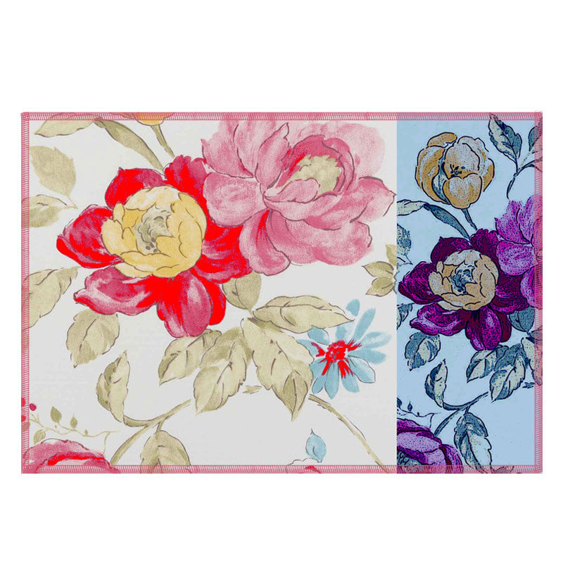 Leaf Designs Multicoloured Hues Floral Fabric Table Mats (B) - Set Of 6