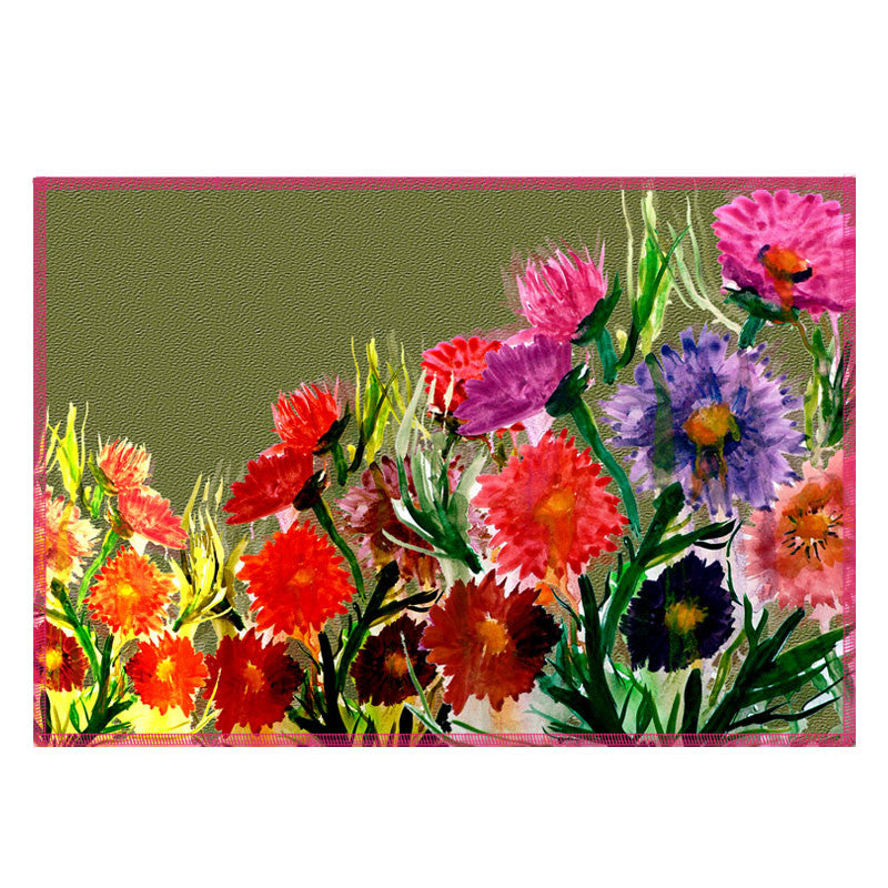 Leaf Designs Multicoloured Daisy Fabric Table Mats - Set Of 6