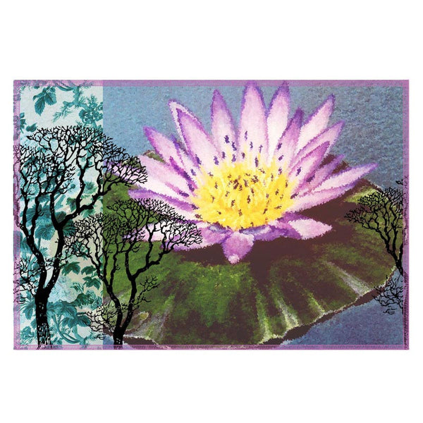 Leaf Designs Lilac & Yellow Table Mat - Set Of 6