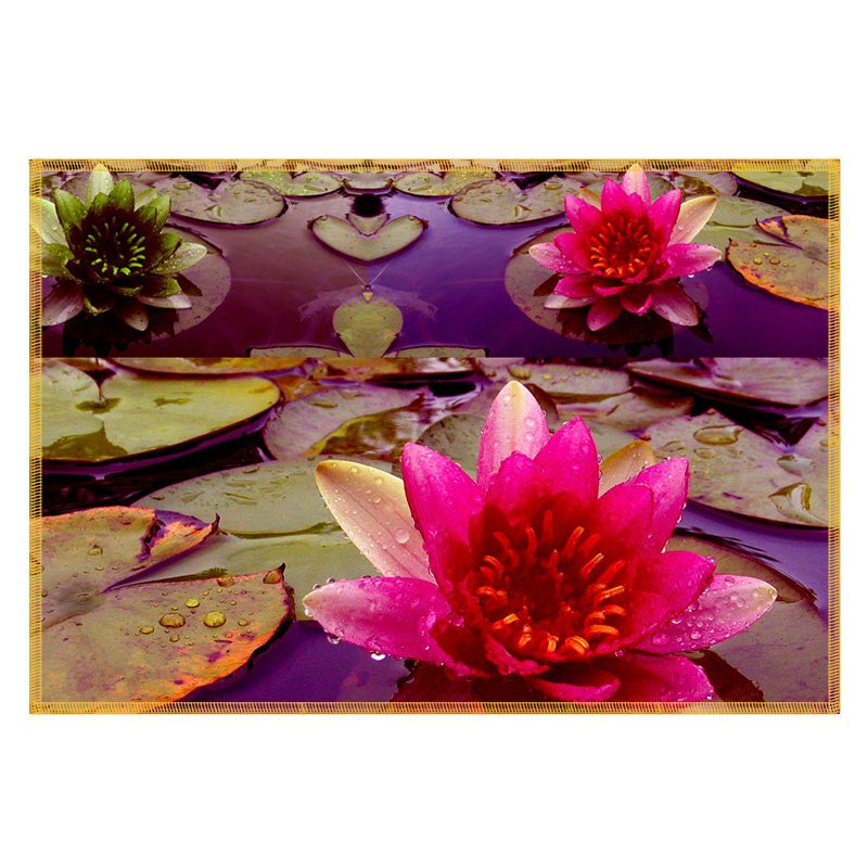 Leaf Designs Purple & Pink Table Mats - Set Of 6