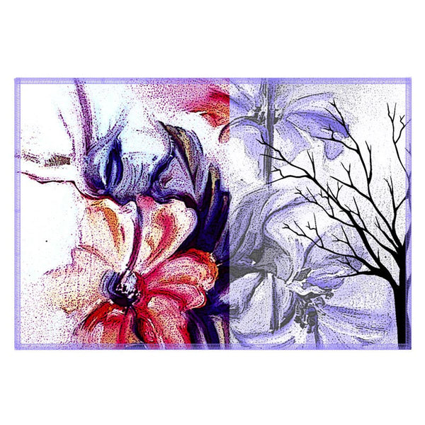 Leaf Designs Purple & Red Table Mats - Set Of 6