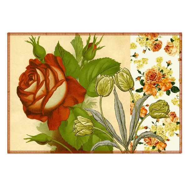 Leaf Designs Rose Vintage Table Mats - Set Of 6