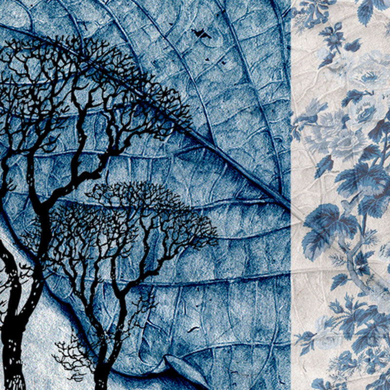 Leaf Designs Blue Leaf Vintage Table Mats - Set Of 6