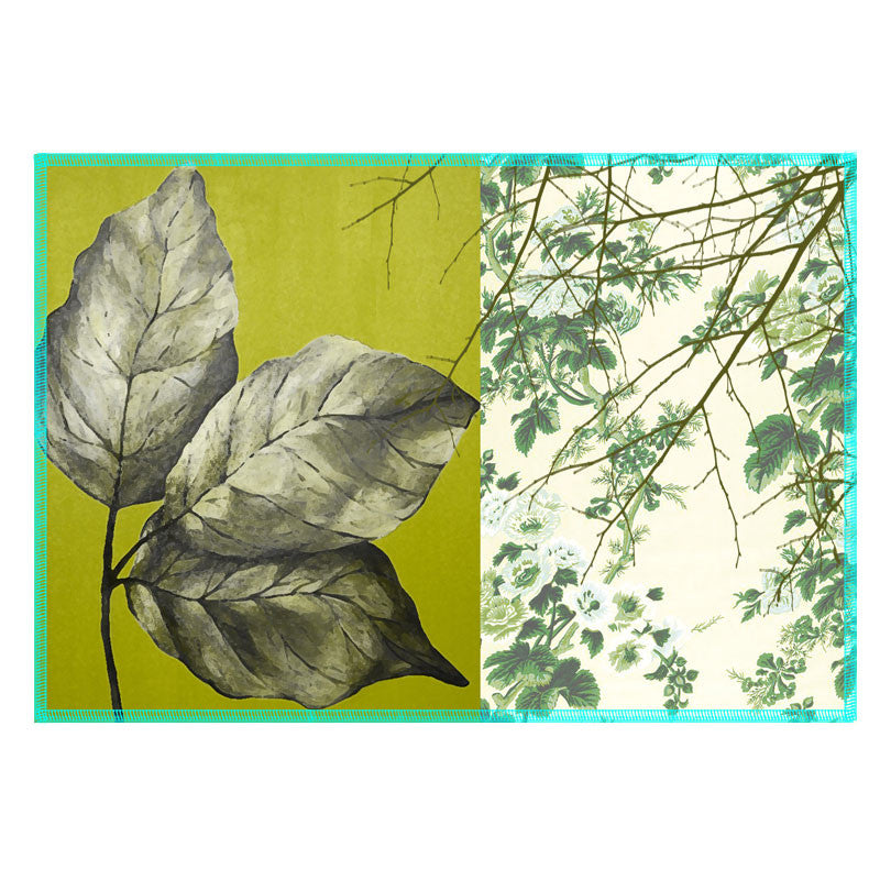 Leaf Designs Green Leaf Vintage Table Mats - Set Of 6