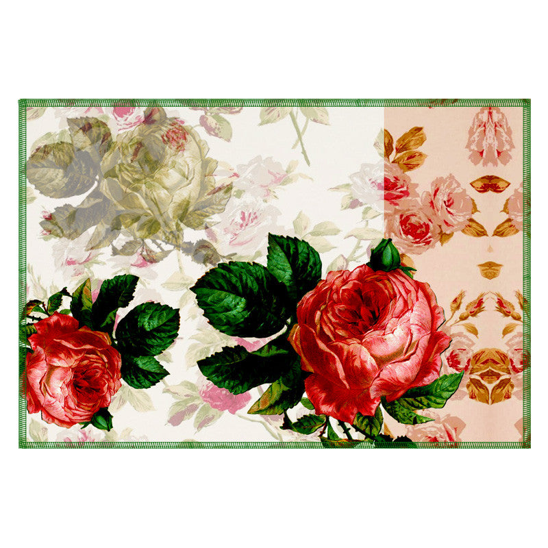 Leaf Designs Ashen Floral Vintage Table Mats - Set Of 6
