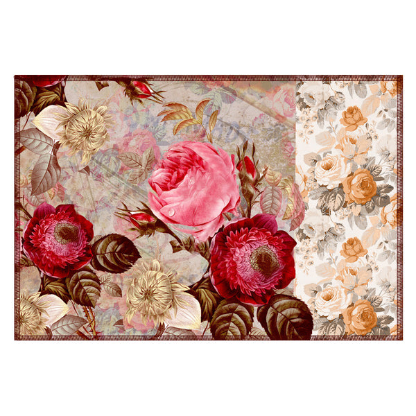 Leaf Designs Mushroom Floral Vintage Table Mats - Set Of 6