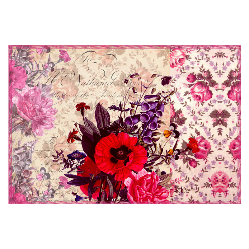 Leaf Designs Coffee Floral Vintage Table Mats - Set Of 6