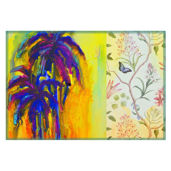 Leaf Designs Bright Blue Tree Table Mats - Set Of 6