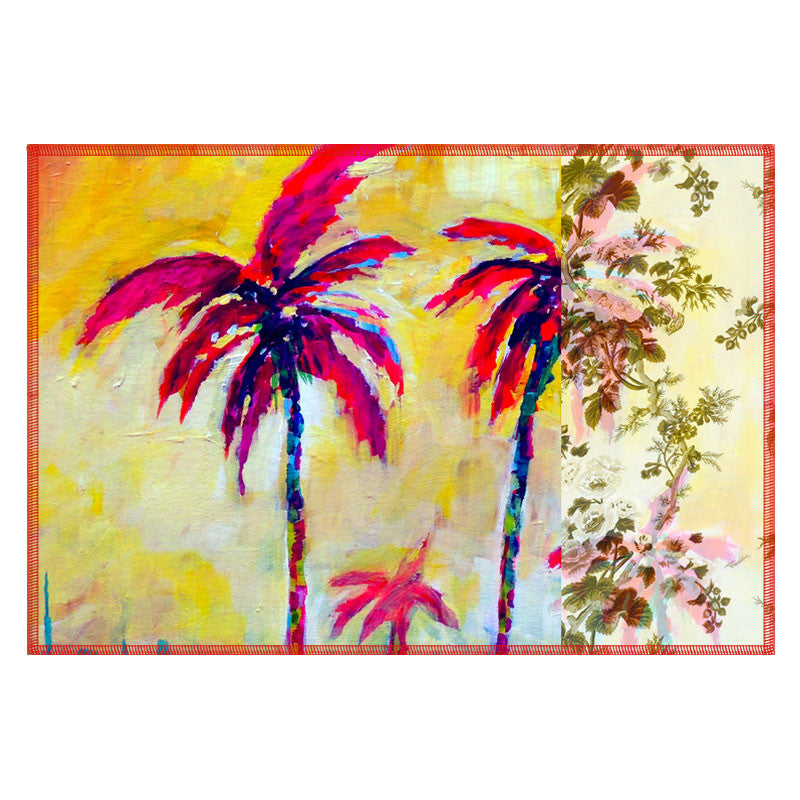 Leaf Designs Magenta Tree Table Mats - Set Of 6