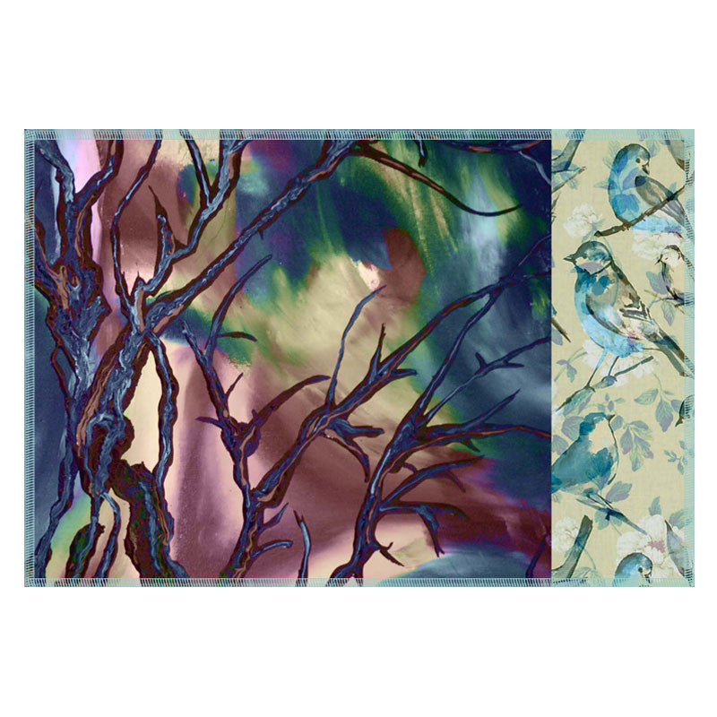 Leaf Designs Blue & Brown Tree Table Mats - Set Of 6