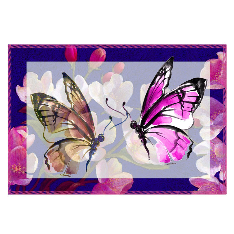 Leaf Designs Light Purple Butterfly Table Mats - Set Of 6