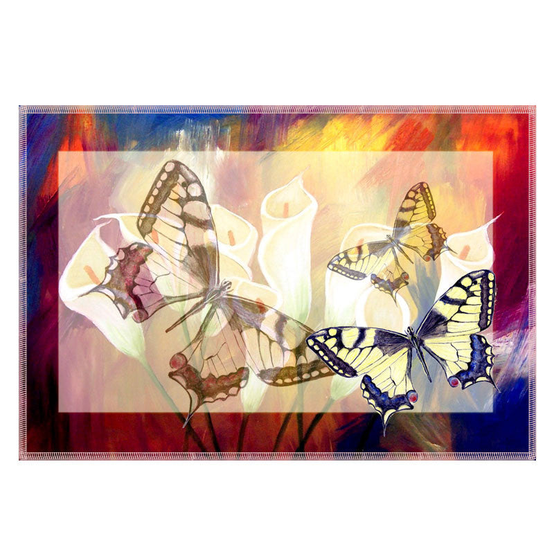 Leaf Designs Red & Brown Butterfly Table Mats - Set Of 6