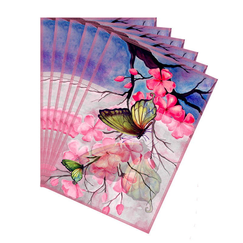 Leaf Designs Pink & Blue Butterfly Table Mats - Set Of 6