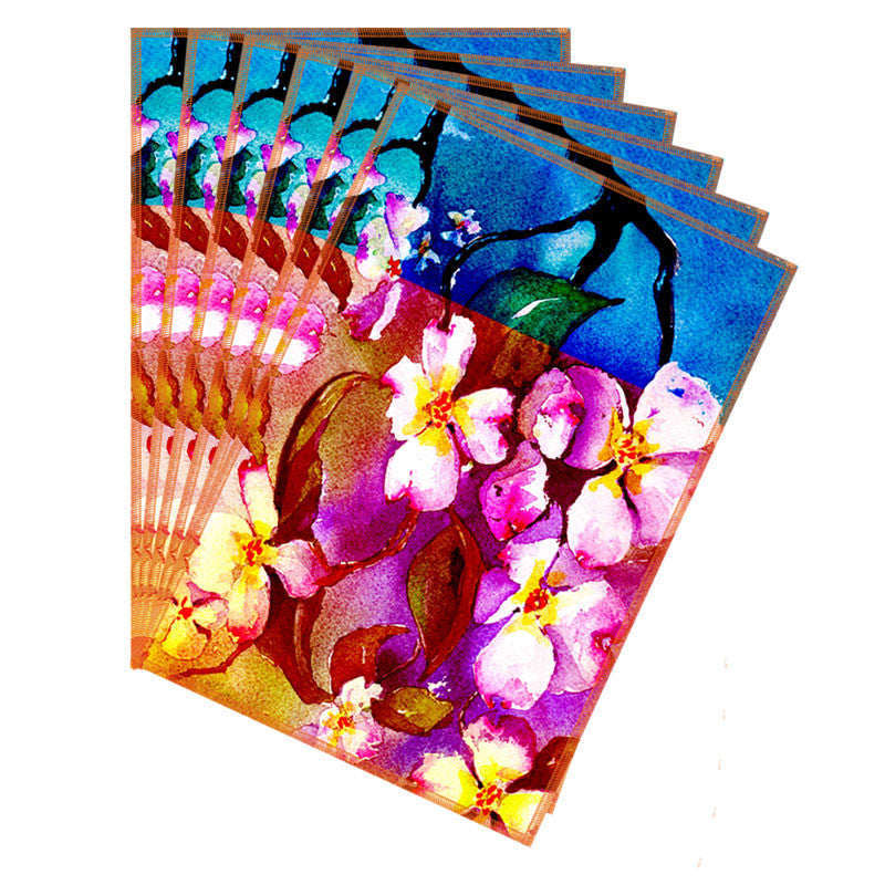 Leaf Designs Hot Pink Flora Table Mats - Set Of 6