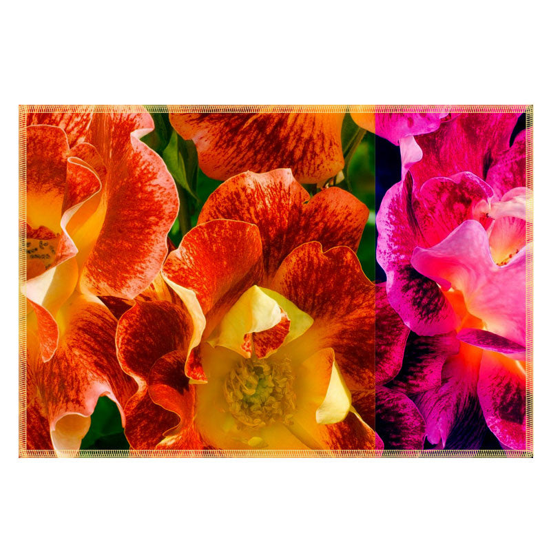 Leaf Designs Fiery Orange Flora Table Mats - Set Of 6