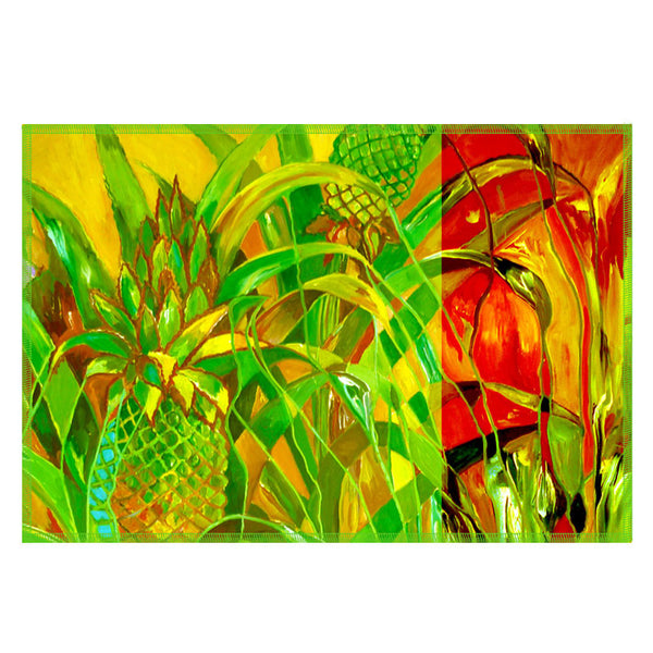 Leaf Designs Bright Green Flora Table Mats - Set Of 6