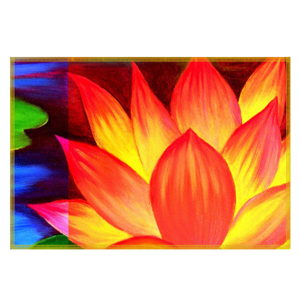 Leaf Designs Flame Orange Flora Table Mats - Set Of 6