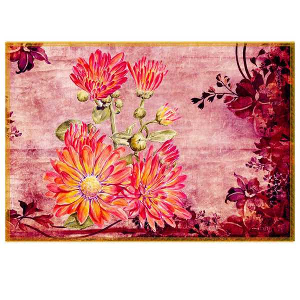 Leaf Designs Pink Vintage Table Mats - Set Of 6