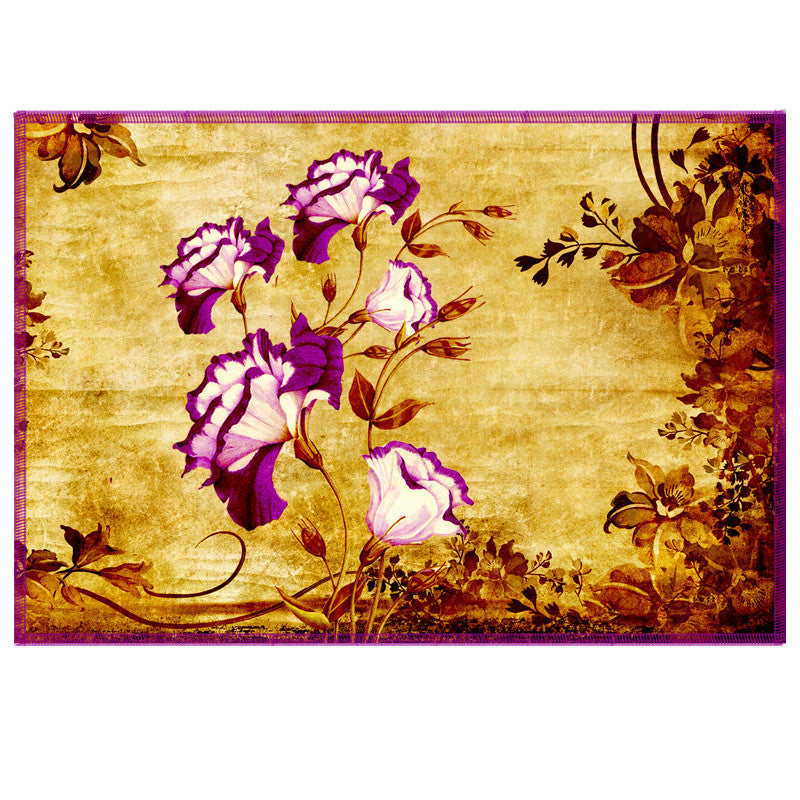 Leaf Designs Magenta & Yellow Vintage Table Mats - Set Of 6