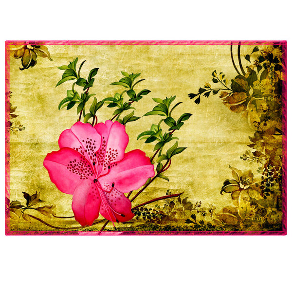 Leaf Designs Hot Pink Vintage Table Mats - Set Of 6