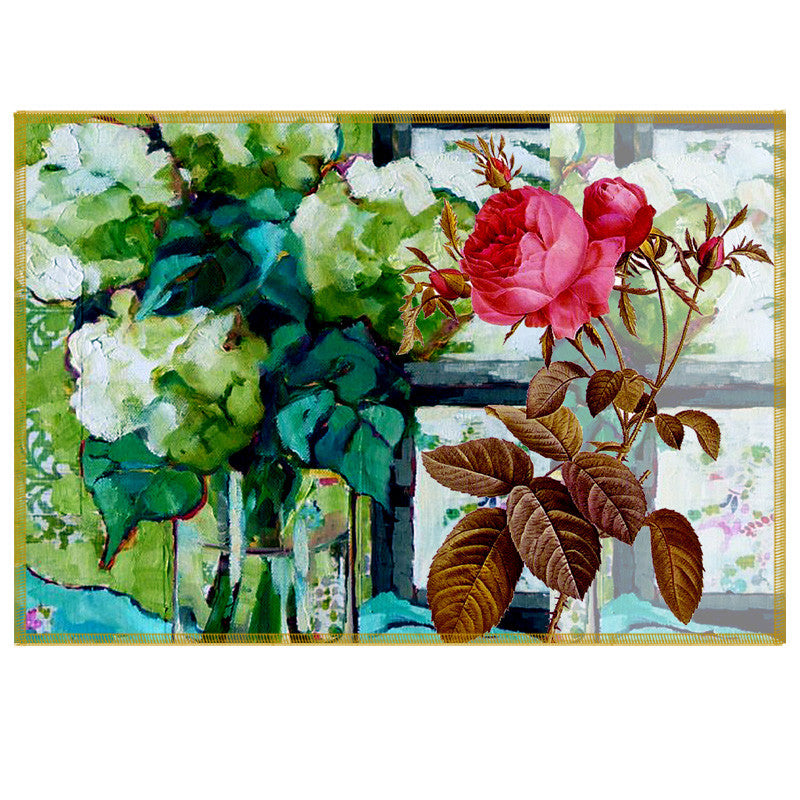Leaf Designs Multicoloured Summer Floral Table Mats - Set Of 6