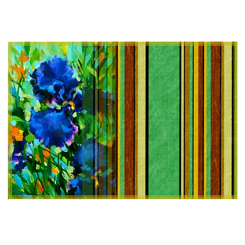 Leaf Designs Green Stripes Table Mats - Set of 6