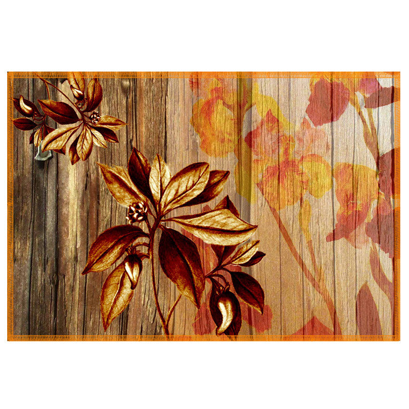 Leaf Designs Natural & Ochre Table Mat - Set Of 6