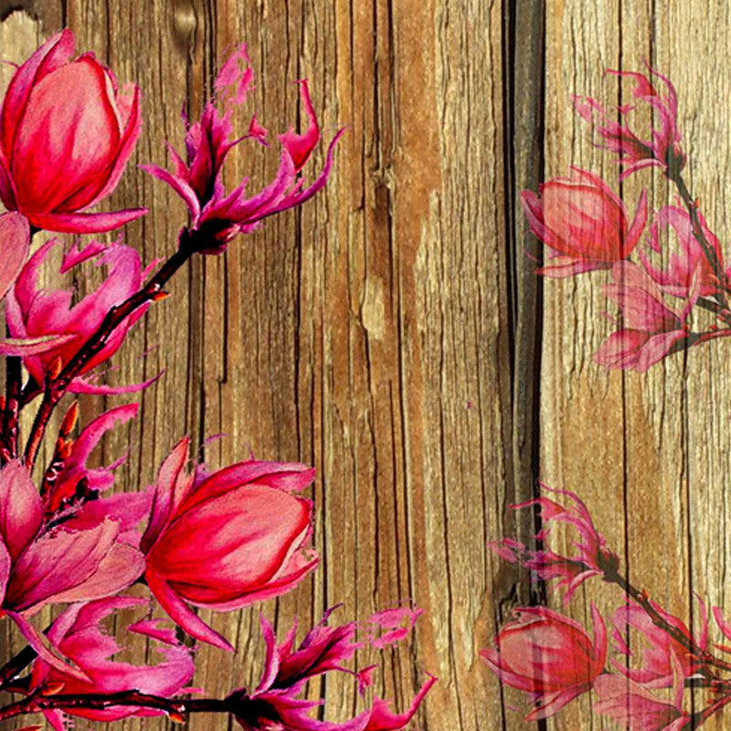 Leaf Designs Natural & Bright Pink Table Mat - Set Of 6