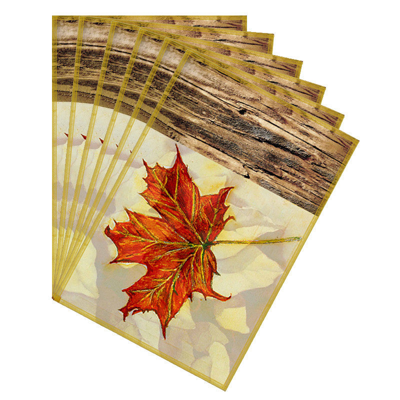 Leaf Designs Lemon & Orange Table Mat - Set Of 6