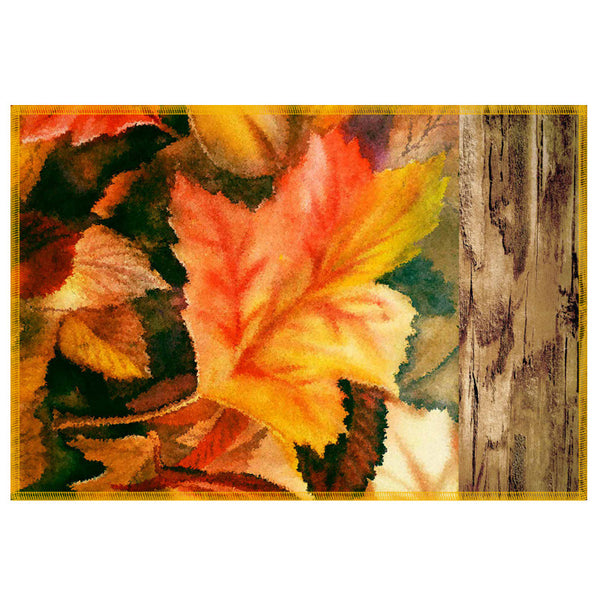 Leaf Designs Natural Darkest Green Table Mat - Set Of 6