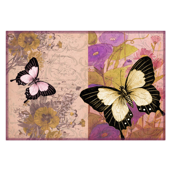 Butterfly & Floral Lilac Table Mat - Set Of 6