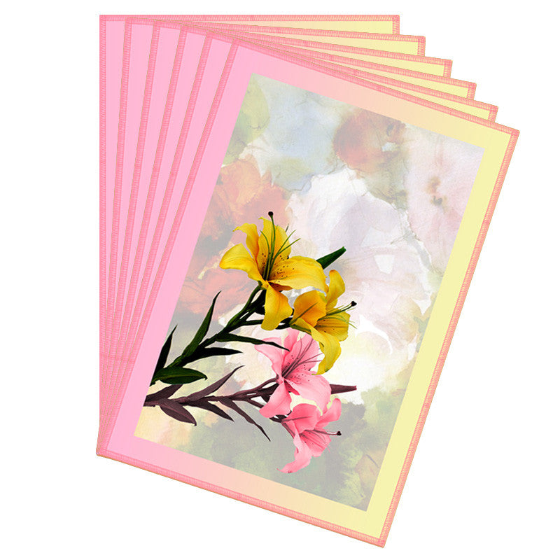 Floral & Pink Peach Border Table Mat - Set Of 6